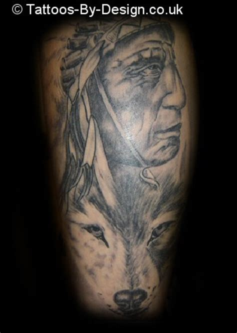 black and grey indian tattoos black and grey indian tattoo