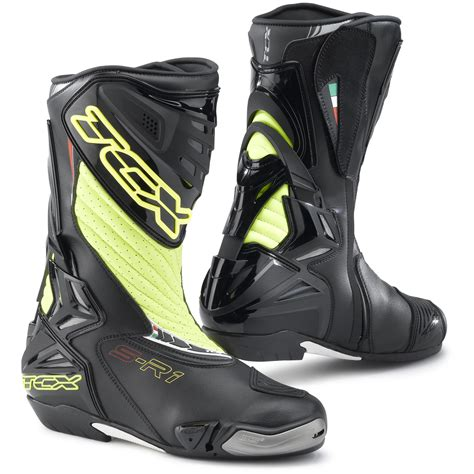 motorcycle racing boots tcx s r1 leather motorcycle motorbike ce approved sports