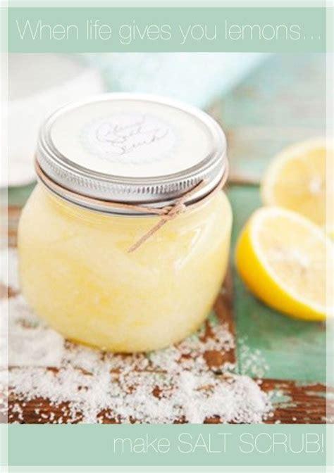 diy sea salt scrub diy lemon salt scrub you
