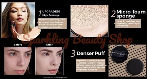 Refill Maybelline Bb Cushion jual maybelline ultra cover bb cushion spf 50 pa