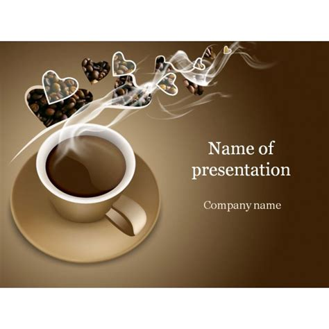 Coffee Powerpoint Template Background For Presentation Coffee Powerpoint Template Free