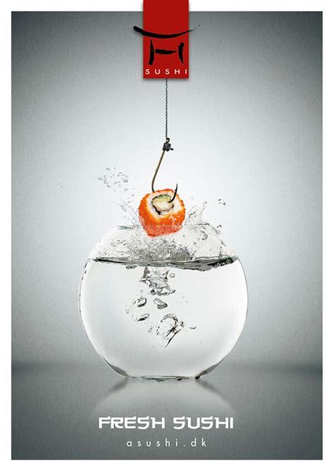 creative sushi ads   prove  fresh sushi   design swan