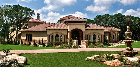 tuscany house lakeway texas tuscan front elevation by zbranek holt