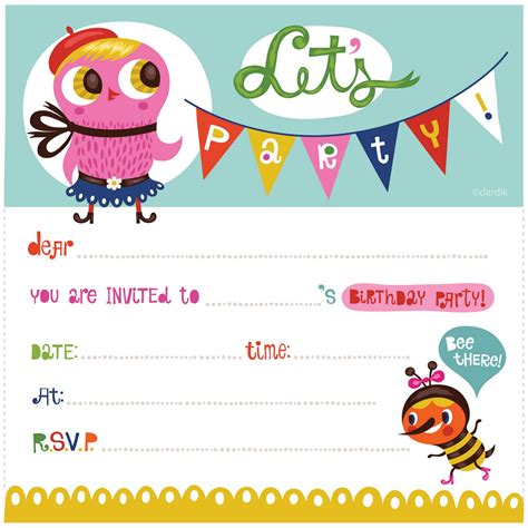 free printable birthday party invitations drevio