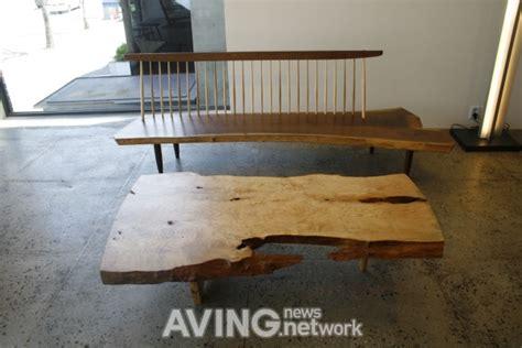 the bench com seoul korea aving george nakashima introduced its