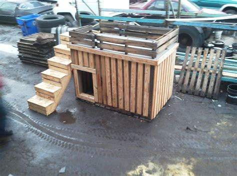dog house made out of pallets dog house made from pallets products i love pinterest