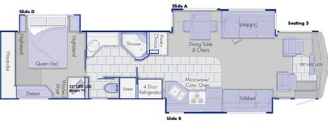 country coach floor plans country coach inspire 360 quot genoa quot floor plan
