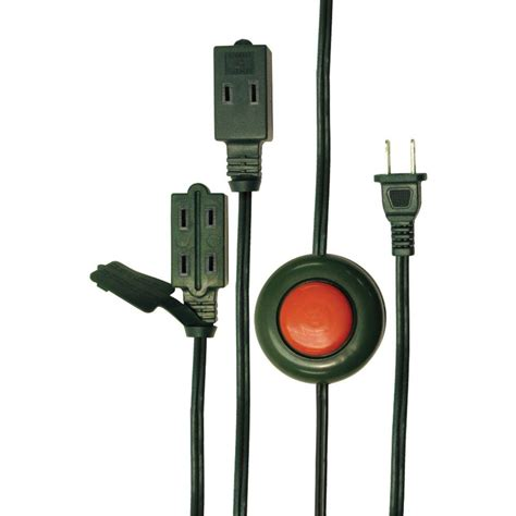 axis 9 ft 3 outlet foot switch extension cord 45512 the
