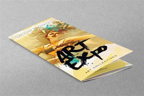 art show expo trifold brochure brochure templates on