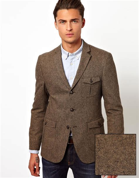light brown jacket mens brown men blazer fashion ql