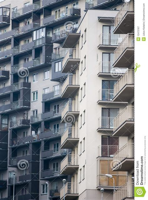 newly built newly built block of flats royalty free stock photography