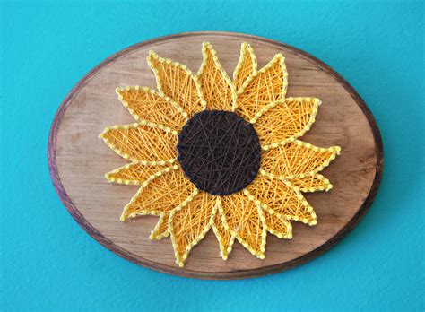 String Flower Patterns - sunflower string