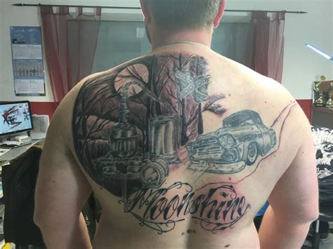 moonshine tattoo ende dritte sitzung moonshine