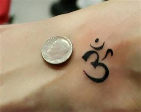 small om tattoo