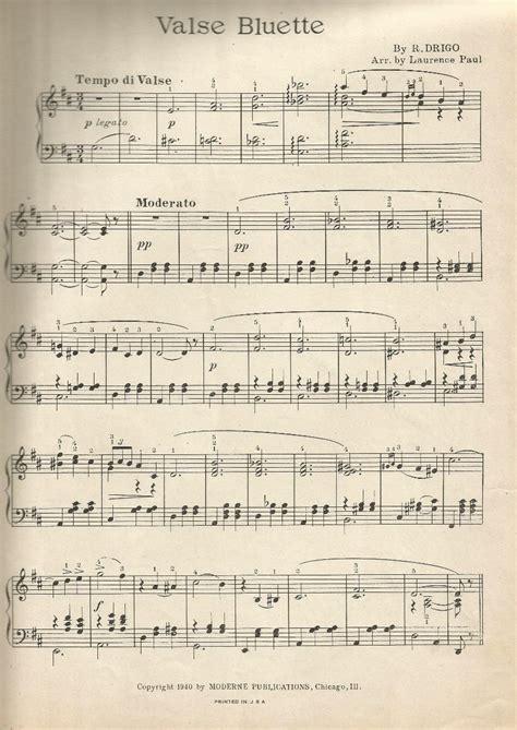 imagenes partituras antiguas antiguas partituras piano valse bluette moderne