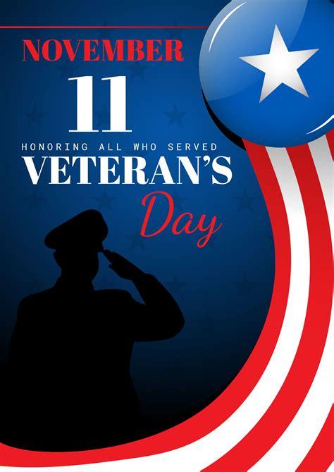 veterans day card   vectors clipart