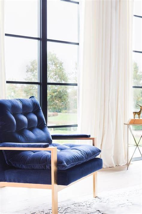 Navy Blue Living Room Chair Navy Blue Accent Chair Design Ideas