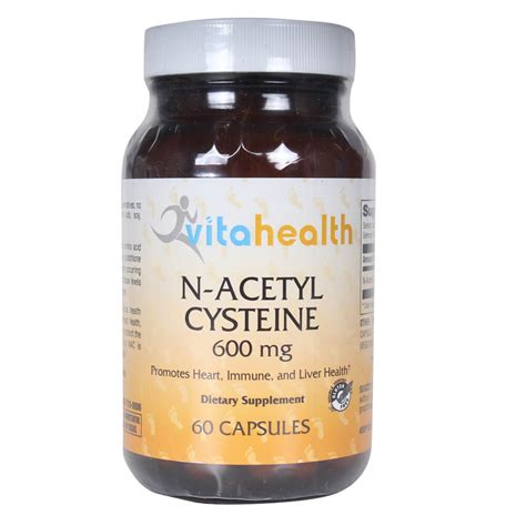 supplement n acetyl cysteine n acetyl cysteine 600 mg dietary supplement 60 capsules