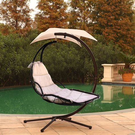 hanging lounger swing large hanging hammock chaise lounger outdoor swing chair