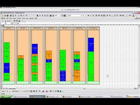Yamazumi Chart Template Youtube Machine Chart Excel Template