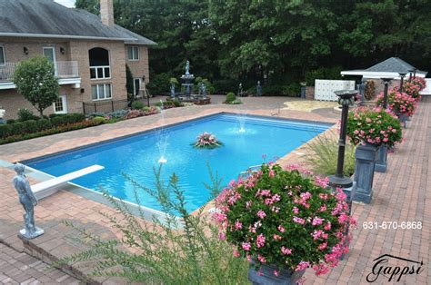 The Backyard Harbor by Nicolock Paving Stones For Pool Patio In Lloyd Harbor New York 11743 Deck And Patio