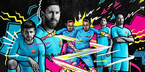 wallpaper barcelona tim ini jersey tandang barcelona musim 2017 2018 mix berita bola