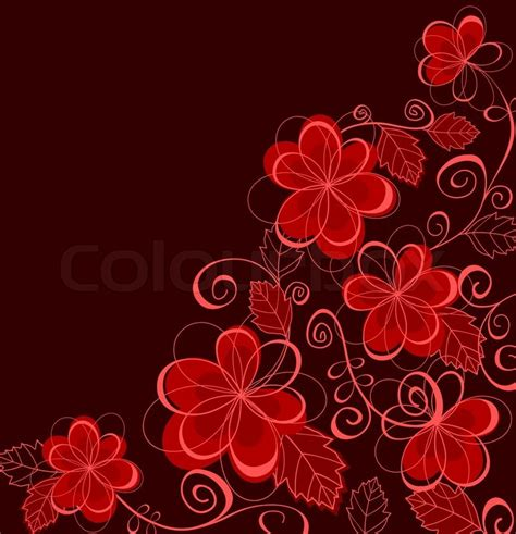 colorful card background design elements free vector in colorful abstract floral background for textile or