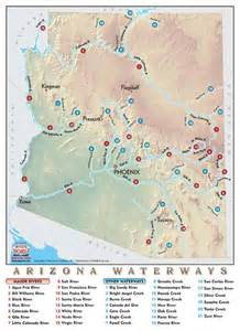 map of arizona rivers arizona rivers