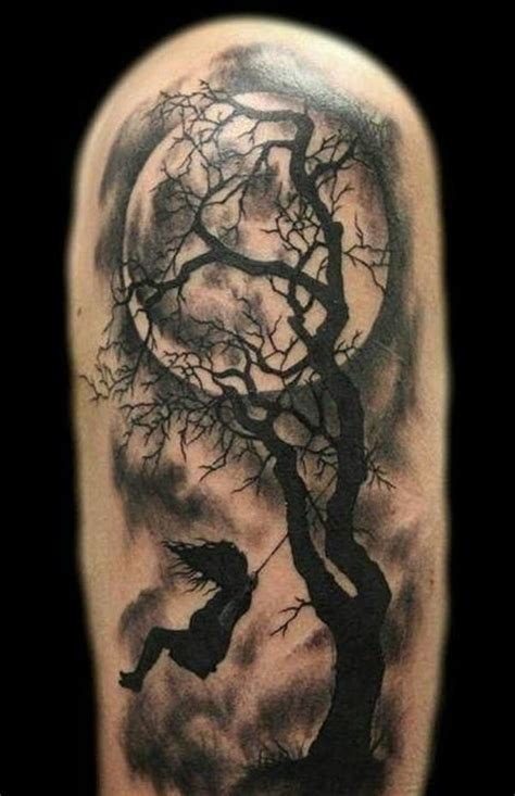 moon and tree tattoo tree designs 23 loving the moon silhouette of