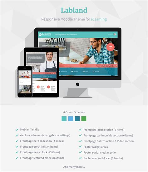 moodle multiple themes labland responsive moodle theme for corporations