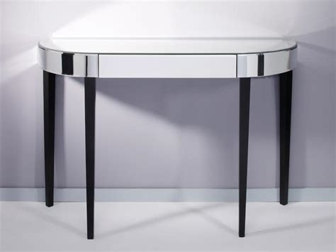 black mirrored console table softly mirrored black console table mirrored furniture