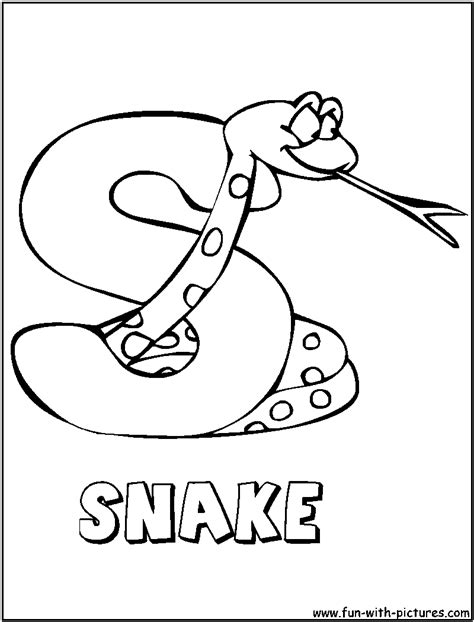 S Snake Coloring Page free coloring pages of s is for snake