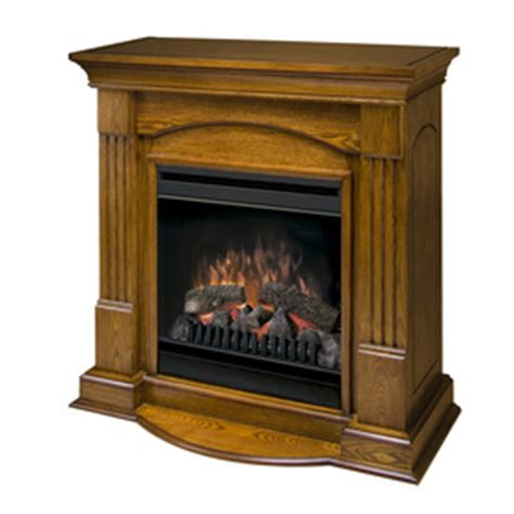 Lowes Dimplex Electric Fireplace by Shop Dimplex 37 In W Oak Wood Electric Fireplace With