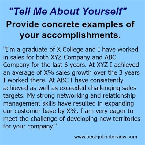 Tell Me About Yourself For Mba Finance by Tell Me About Yourself The Right Answer