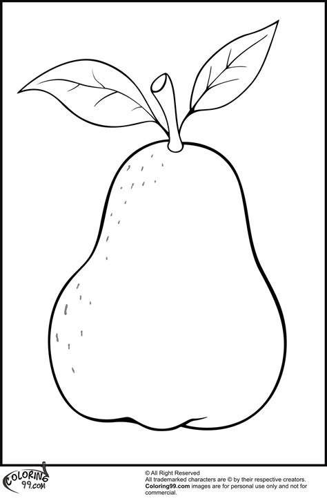 pears coloring pages team colors