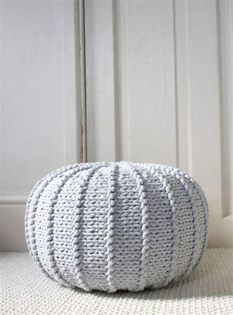 ottoman knitted 25 best ideas about knitted pouf on pinterest knitted