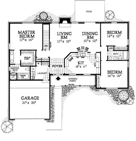 t ranch house plans ranch house plan 90274 don t need garage just an added expense for the home
