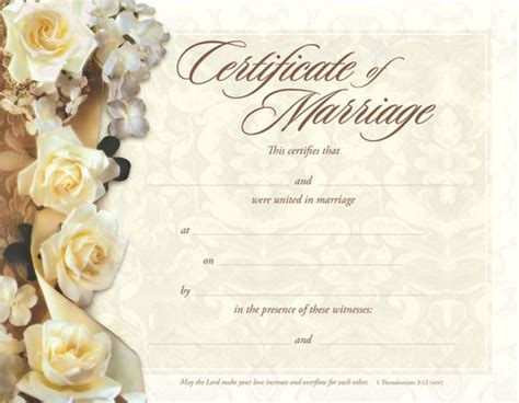 Marriage Card Template In by Marriage Certificate Marriage And Certificate Templates