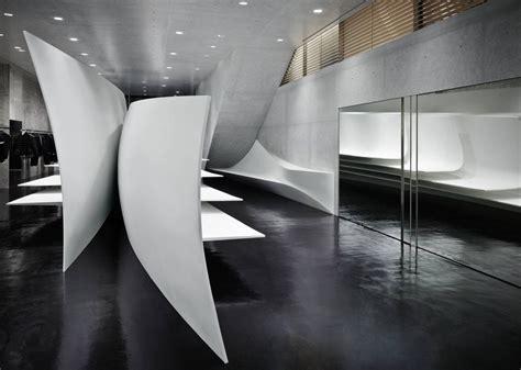 zaha hadid interior neil barrett flagship store in tokyo japan by zaha hadid