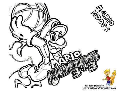 mario basketball coloring pages mario bros coloring super mario bros free coloring