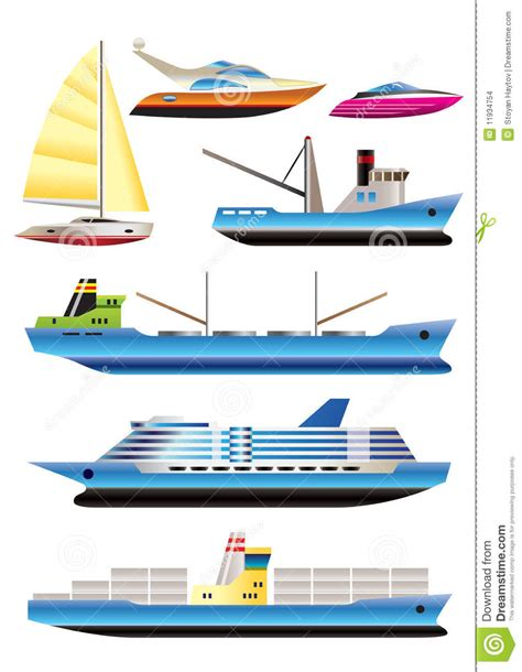 How To Make Different Types Of Paper Boats - different types of boat and ship icons stock vector