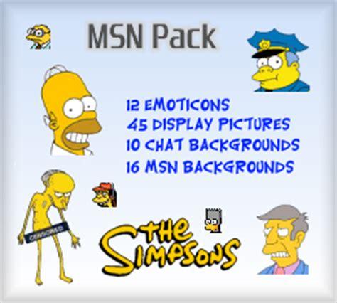 Sherv Net New Simpsons Msn Pack Msn Emoticons Display Pics   sherv net new simpsons msn pack msn emoticons display