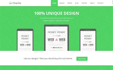 bootstrap themes green free chearlie skinable bootstrap 3 template