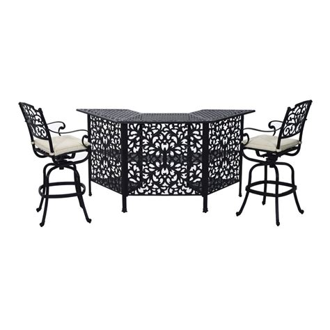 outsunny cast aluminum outdoor patio bar height