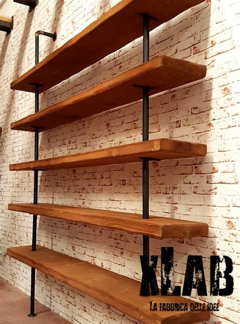 scaffali e librerie design legno acquista la libreria da parete stile vintage