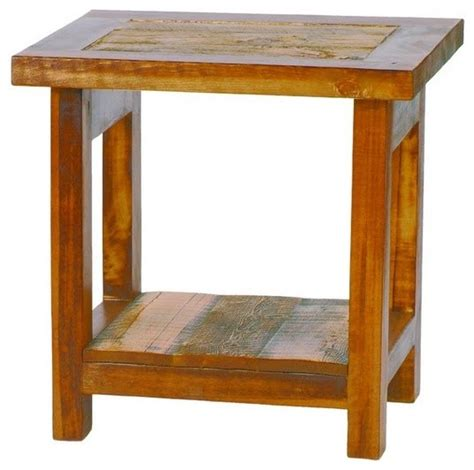 Wooden End Tables Small Reclaimed Wood End Table Rustic Barnwood Rustic Side Tables And End Tables By