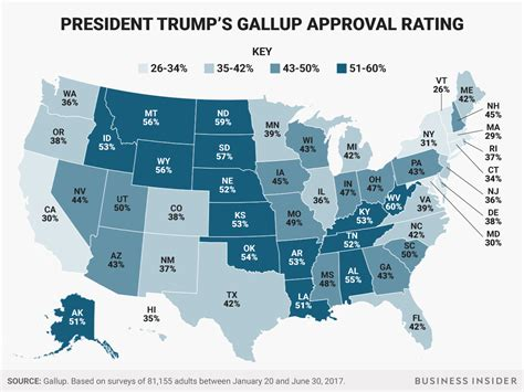 donald trump approval rating trump s approval rating by state tigerdroppings com