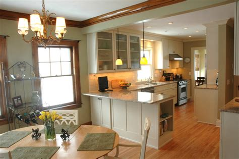 open kitchen dining room design   traditional home traditional kitchen minneapolis