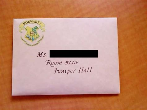 College Acceptance Letter Envelope Hogwarts Acceptance Letter Door Dec Parchment Envelopes From Stuffed With Folded