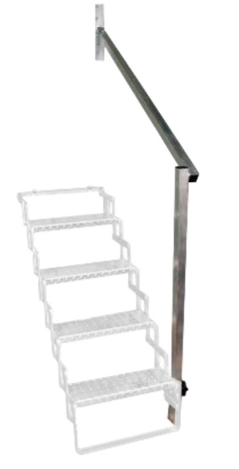 Rv Stairs With Handrails aluminum rail for 5 step scissor stair brophy accessories and parts ahr5
